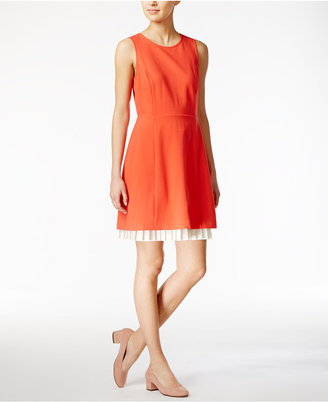 Maison Jules Pleated Contrast Dress, Only at Macy's $79.50 thestylecure.com