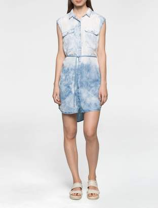 Calvin Klein light denim sleeveless utility dress