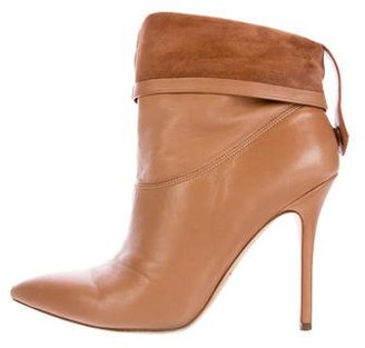 Brian Atwood Leather Pointed-Toe Ankle Boots $145 thestylecure.com