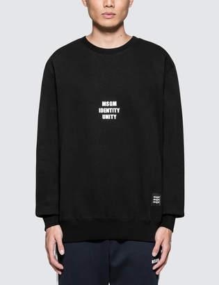 MSGM Identity Unity Sweatshirt