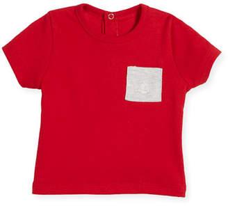 Petit Bateau Short-Sleeve Cotton Pocket T-Shirt, Size 6-36 Months