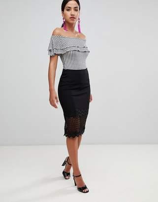 Rare London zig zag lace skirt
