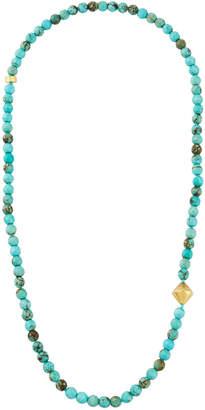 Nest Jewelry Jasper Necklace w/ Bicone Bead, Turquoise