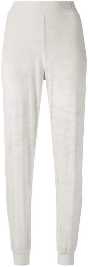 velour feel trousers