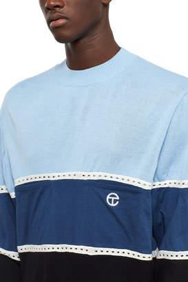 Telfar Stripe Pocket Mock Neck Sweater