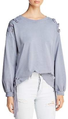 Billy T Side Lace-Up Sweatshirt