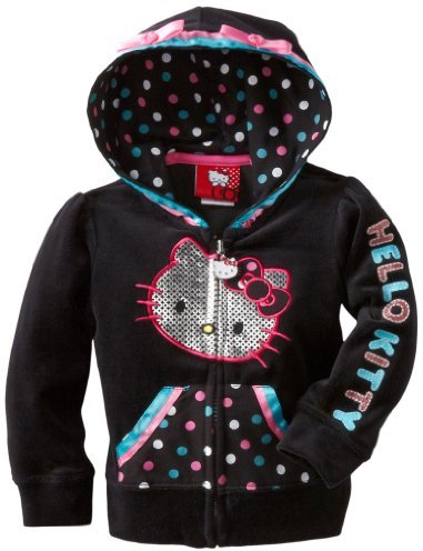 Hello Kitty Girls 2-6x HK Hoodie With Foil Screen