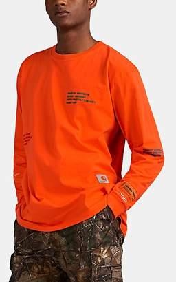 Heron Preston x Carhartt Work In Progress Men's Embroidered Cotton Long Sleeve T-Shirt - Orange