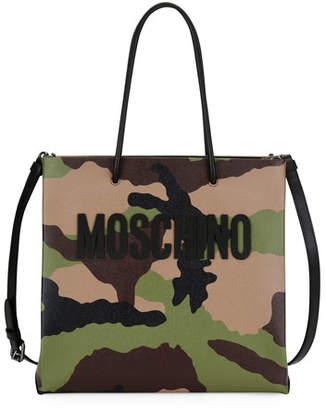 Moschino Camouflage-Print Tote Bag, Multi