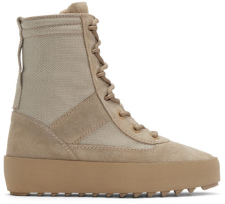 YEEZY Taupe Military Boots $645 thestylecure.com