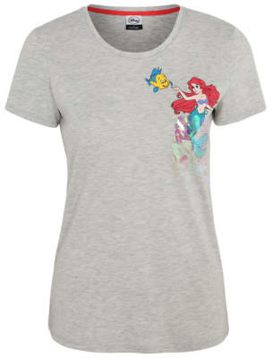 Disney The Little Mermaid Sequin Detail T-Shirt