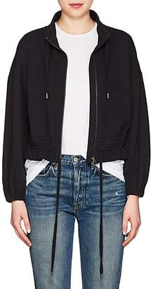 Frame Women's Cotton Terry Crop Jacket - Black Size Xs