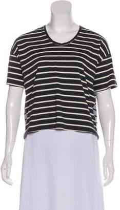 Organic by John Patrick Striped Short Sleeve Top