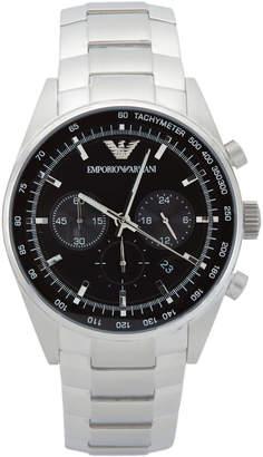 Emporio Armani AR5980 Silver-Tone & Black Watch