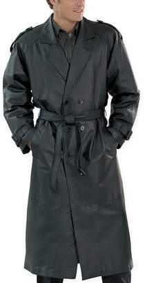 JCPenney Excelled Leather Excelled Nappa Leather Trenchcoat