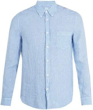 120% Lino 120 LINO Patch-pocket striped linen shirt