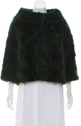Mink Fur Stand Collar Jacket