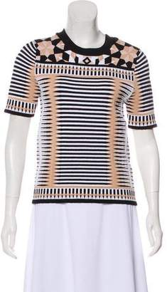 Torn By Ronny Kobo Patterned Knit Top