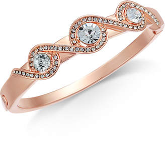 Charter Club Rose Gold-Tone Pave Crystal-Accented Bracelet, Created for Macy's