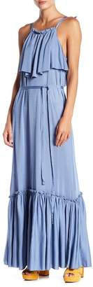 Free People Coco Tie Waist Popover Maxi Dress