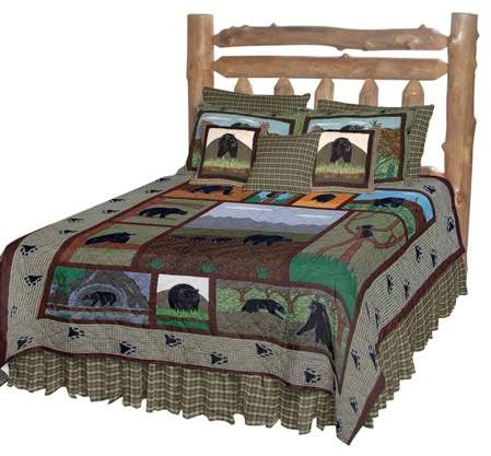 Patch Magic QKBCTY Bear Country, Quilt King 105 x 95 inch