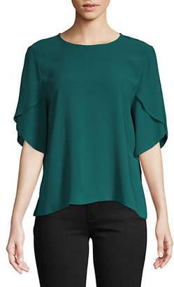 Eileen Fisher Silk Tulip-Sleeve Top