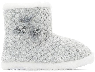 La Redoute COLLECTIONS Slipper Booties with Pom Poms