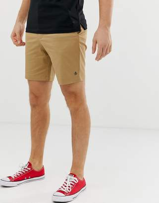 Original Penguin slim fit stretch chino shorts in beige