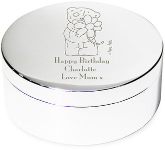 Engraved Me to You Flower Round Trinket Box
