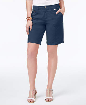 Style&Co. Style & Co Zippered-Pocket Shorts, Created for Macy's