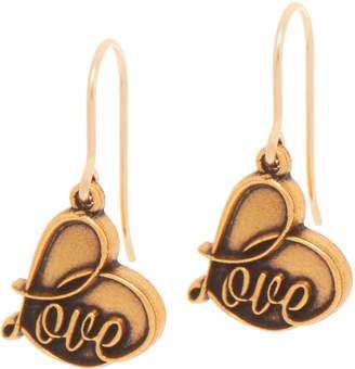 Alex and Ani Love Drop Earrings