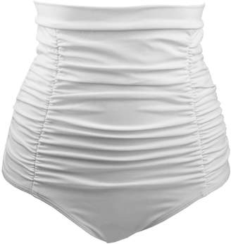 b9882baf8f25e COCOSHIP Women's Retro High Waisted Bikini Bottom Ruched Swim Short Tankinis
