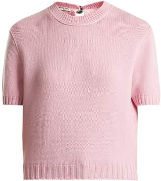 Miu Miu Crew-neck cashmere sweater