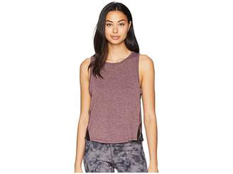 Jessica Simpson TheWarmUp Mesh Side Tank Top Women's Workout