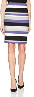 Nine West Women's Striped Midi Skirt