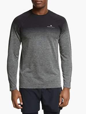 ce960c54 Infinity Marathon Long Sleeve Running Top, Black/Grey Marl