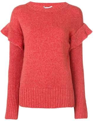 Agnona frill sleeve sweater