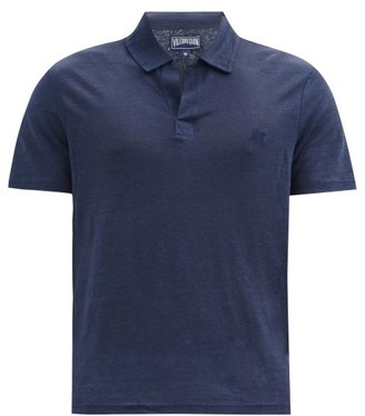 Vilebrequin Pyramid Linen Polo Shirt - Mens - Navy