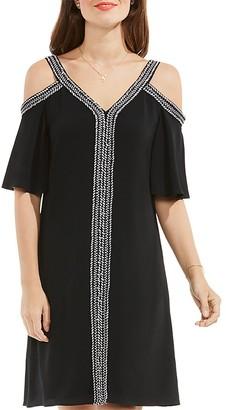 VINCE CAMUTO Cold Shoulder Dress $129 thestylecure.com