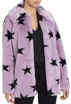 AVEC LES FILLES Faux Fur Coat