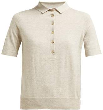 Allude Jersey Polo Shirt - Womens - Beige