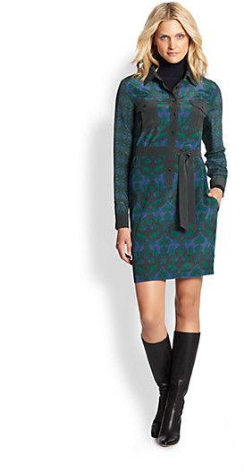 Max Mara Weekend Fariseo Silk Printed Dress