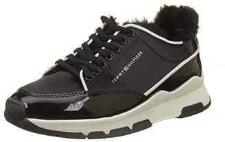 b1808c2eca71 Tommy Hilfiger Women s Cool Technical Satin Sneaker Low-Top (Black ...