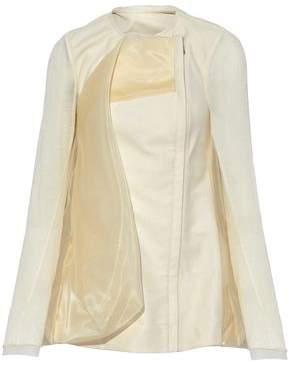 Rick Owens Mesh-Appliquéd Cotton-Canvas Jacket