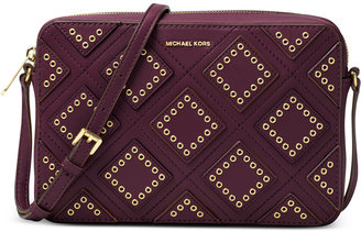 MICHAEL Michael Kors Diamond Grommet Jet Set Travel Large East West Crossbody $248 thestylecure.com