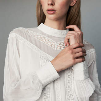 Maje Ruffled shirt with embroidery