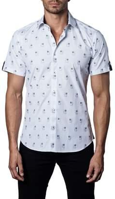 Jared Lang Trim Fit Print Sport Shirt