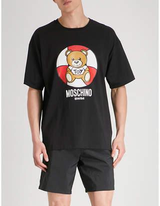 Moschino Rescue Ring Bear cotton-jersey T-shirt