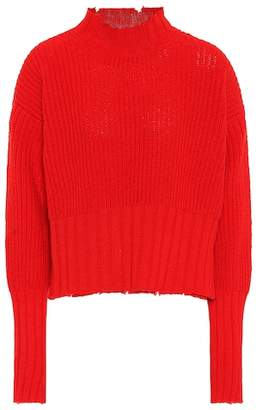 MSGM Ribbed wool-blend sweater