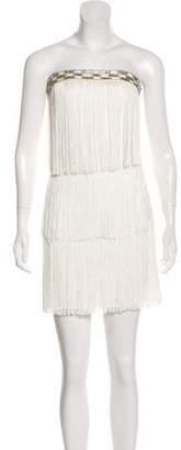 Laundry by Shelli Segal Tassel-Trimmed Mini Dress